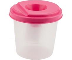 Стакан-непроливайка Kite 75х77 мм, пластиковий, рожевий (k17-1141-10)