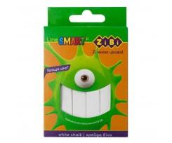 Крейда біла Zibi Smart Line 12 шт картонна коробка (ZB.6705-12)