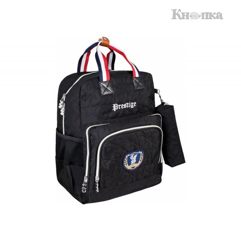 Рюкзак молодіжний Cool For School 38x30x19 см 16-25 л чорний (CF86376)