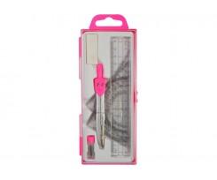 Готовальня Economix 7 предметів рожевий (E81425)