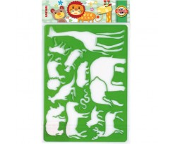 Трафарет Koh-i-Noor Сафарі 310x200 мм пластик зелений (9820/1)