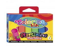 """Пластилін Colorino """"Неон"""", 100 г, 6 кольорів (42666PTR)"""