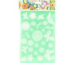 Трафарет Koh-i-Noor Метелики 310x200 мм пластик зелений (9820/5)