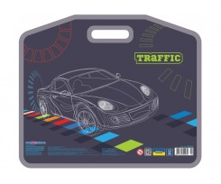 Портфель на липучці Cool For School Traffic А3 пластиковий (CF30003-04)