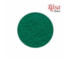 Фетр листковий ROSA TALENT 215х280 мм поліестер Зелений темний 180 г/м2 (165FW-H017)