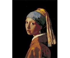 """Набір-стандарт, акриловий живопис за номерами ROSA START """"Дівчина з перловою сережкою"""", (N00013104)"""
