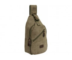 Рюкзак на одне плече CABINET 35x19x8 см, хакі (O97549)