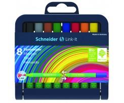 Набір міні фломастерів Schneider LINK-IT, 8 шт. (S192098)