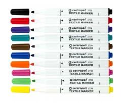 Комплект з 10-ти маркерів Centropen Textile 1.8 мм асорті (2739.10)