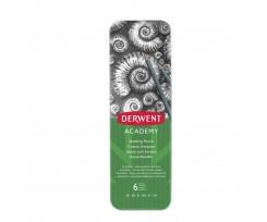 Набір графітних олівців Derwent Academy, 2мм, 3В-2Н, 6шт (2301945)