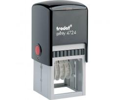 Датер Trodat Рrinty з вільним полем 40х40 мм шрифт 4 мм пластиковий чорний (4724)