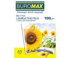 Плівка для ламінування Buromax 100мкм, A5 (154х216мм), 100 шт. (BM.7754)