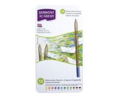 Набір акварельних олівців Derwent Academy Watercolour 12 кольорів 3.5 мм (2301941)