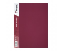 Дисплей-книга Axent 20 файлів, А4, РР, бордова (1020-04-a)