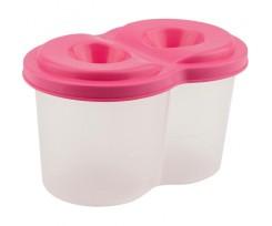Стакан-непроливайка Kite подвійний, 75х77х125 мм, пластиковий, рожевий (k17-1142-10)