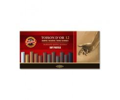Крейда-пастель Koh-i-Noor Toison D'or 12 штук коричневі відтінки (8522012002br)