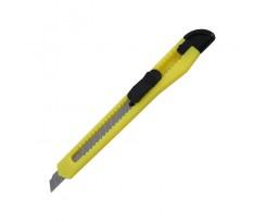Ніж канцелярський 9 мм Axent Delta пластиковий корпус жовтий (D6521-02)