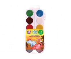 Акварель медова Cool For School Fresh Ideas без пензлика 12 кольорів асорті (CF60183)