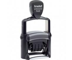 Датер Trodat Professional Line з вільним полем 49х28 мм шрифт 4 мм металевий чорний (5440 P 4.0)