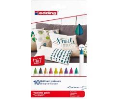 Комплект з 10-ти маркерів Edding Textile Classic 1 мм асорті (4600/10C)