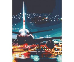 Живопис за номерами ArtStory Вогні аеропорту 40х50 см асорті (AS0587)