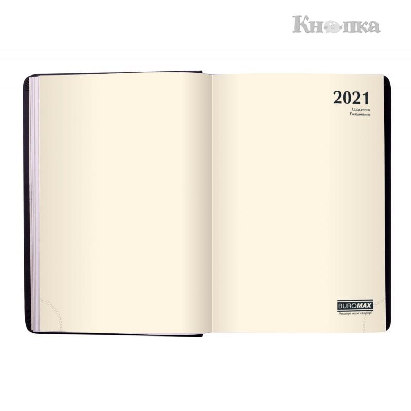 Щоденник датований 2021 Buromax BRAVO, A6, 336 сторінок, синій (BM.2523-02)