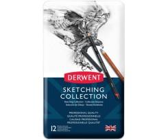 Набір з 12-ти матеріалів для графіки Derwent Sketching Collection асорті (34305)