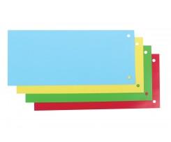 Роздільник аркушів Economix 240х105мм 100 шт картон кольоровий (E30809)