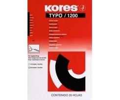 Папір копіювальний Kores Typo 1200 А4 20 аркушів чорний (K7528942)