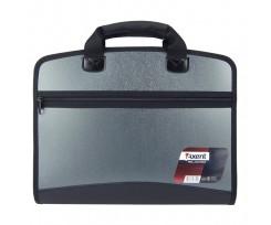 Портфель Axent 4 відділення А4 380х300х70 мм РР сірий металік (1621-11-a)