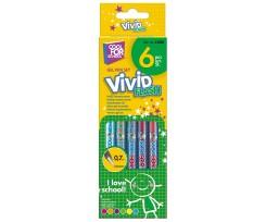 Набір з 6-ти гелевих ручок Cool for School Vivid Flash 1.0 мм асорті (CF11918)