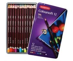 Набір кольорових олівців  Derwent Coloursoft, 12шт., (701026)