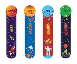 """Закладинки для книг Сool For School """"Space"""", пластикові, 4 шт, асорті (CF69109-01)"""