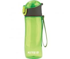 Пляшечка для води Kite пластикова, 530 мл, зелена (k18-400-01)
