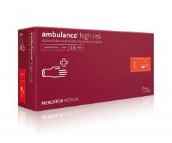 Рукавички Pro Service Ambulance нестерильні L 50 штук синій (pr.04158)