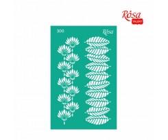 Трафарет багаторазовий самоклеючий ROSA TALENT Floral Poem №300 130x200 мм (GPТ50046013)
