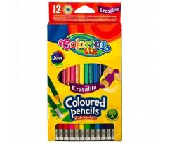 Набір з 12-ти олівців Colorino з гумкою 3 мм асорті (92531PTR)