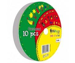 Диски DVD-R KAKTUZ 4.7GB 16X Bulk 10 pcs (*27772)