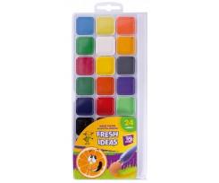 Акварель медова Cool For School Fresh Idea, 24 кольорів, без пензлика, асорті (CF60136)