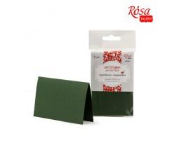 Набір заготовок для листівок ROSA TALENT 5 шт 103х70 мм №11 темно-зелений 220 г/м2 (94099051)