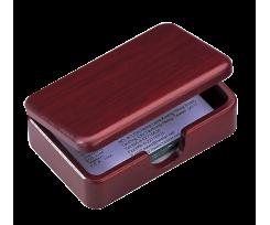 Дерев'яний контейнер для візиток Bestar 110х70х35мм, червоне дерево (1315WDM)