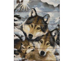 Живопис за номерами ArtStory Вовки на дереві 30х40 см асорті (ASW013)