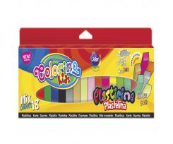 """Пластилін Colorino """"MIX"""", 300 г, 18 кольорів (57424PTR)"""