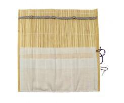 Пенал для пензлів D.K.ART & CRAFT  33х33см., бамбуковий, натур.колір+тканина  (94160440)