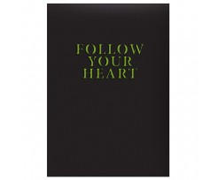 Щоденник Brunnen Агенда Follow your heart 14.5x20.6 см 320 аркушів чорний (73-796 60 011)