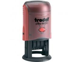 Датер Trodat Рrinty з вільним полем 30 мм шрифт 3 мм пластиковий червоний (46130)