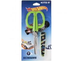 Ножиці дитячі Kite Hot Wheels в футлярі 13 см зелені (HW21-124)