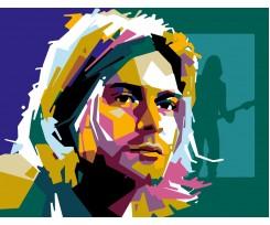 """Набір-стандарт, акриловий живопис за номерами ROSA START """"Курт Кобейн"""", (N00013159)"""