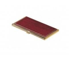 Контейнер для візиток Bestar 94х59х8мм, металевий, червоне дерево (1327WDM)