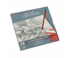 Набір з 24-х олівців Cretacolor 2.8 мм чорний (90516024)